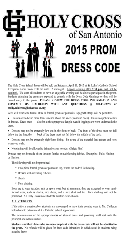to & print the prom guidelines