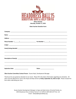 Silent Auction Form
