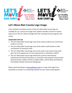 Let`s Move Blair County Logo Usage