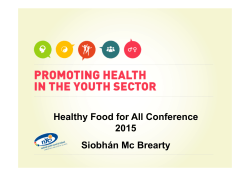 Promoting Health in the Youth Sector