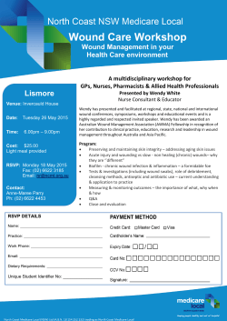 Wound Care Workshop - Healthy North Coast