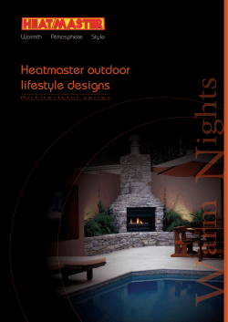 Heatmaster outdoor lifestyle designs