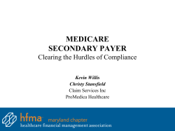 MEDICARE SECONDARY PAYER