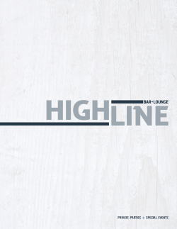 Private Party Menus - Highline Bar + Lounge