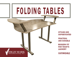 Folding Tables - High Mark Manufacturing