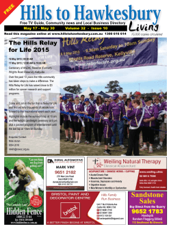 Issue May 15 - Hills To Hawkesbury Living Magazine