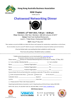 Chatswood Networking Dinner