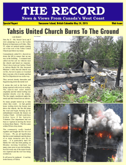 Tahsis United Church Burns To The Ground