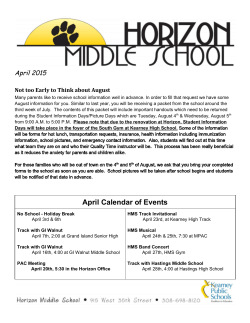 April - Horizon Middle School