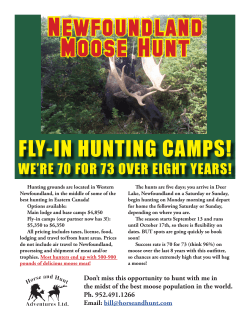 FLY-IN HUNTING CAMPS!