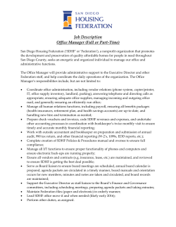 job description - San Diego Housing Federation