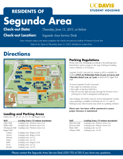 Segundo Parking Map  - UC Davis Student Housing