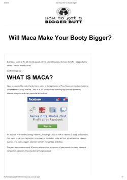 Will Maca Make Your Booty Bigger?