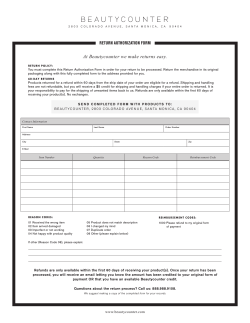 the Return Authorization Form