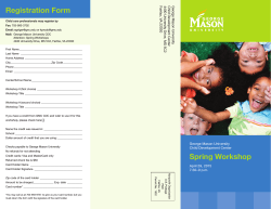 CDC Spring Workshop Flyer & Registration