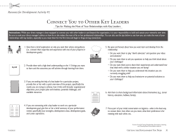 Connecting to Key Leaders handout