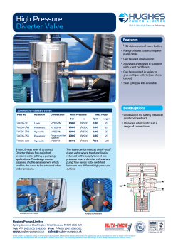 Diverter Valves - Hughes Pumps Ltd