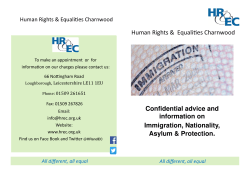 Confidential advice and information on Immigration, Nationality