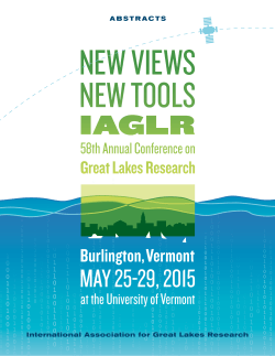 Abstract Book - International Association for Great Lakes Research