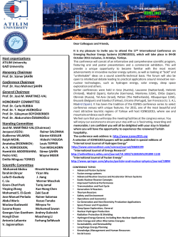 Call For Papers - 17. International Conference on Emerging Nuclear