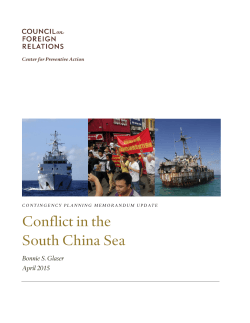 Conflict in the South China Sea