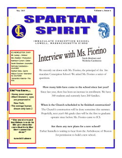 We recently sat down with Ms. Fiorino, the principal
