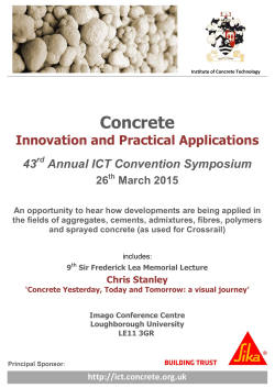 Convention flyer - Institute of Concrete Technology