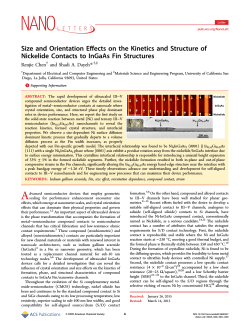 Size and Orientation Effects on the Kinetics and Structure of