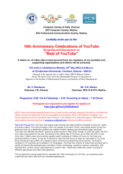 "10th Anniversary Celebrations of YouTube ""Best of YouTube"""
