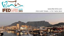 IFED CAPE TOWN – 5 TO 7 NOV 2015 www.ifed