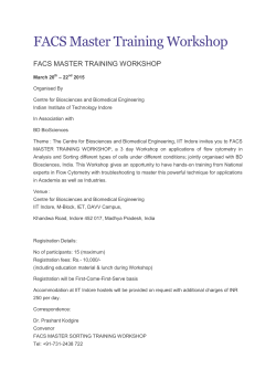 FACS Master Training Workshop - Indian Institute of Technology