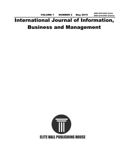 Paper - International Journal of Information, Business and