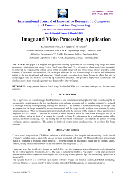 Image and Video Processing Application