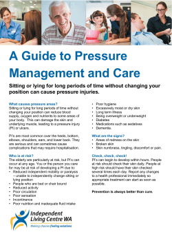 A Guide to Pressure Management and Care