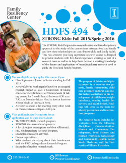 HDFS 494 Informational Flyer