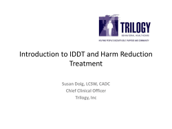 Introduction to IDDT and Harm Reduction Trreatment, Susan Doig