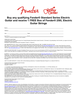 Buy any qualifying Fender® Standard Series Electric