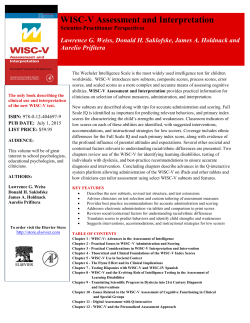 WISC-V Assessment and Interpretation book