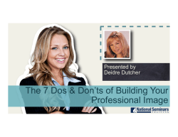 The 7 Dos & Don`ts of Building Your Professional Image