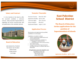 E Palestine Supt Search 2015 - Mahoning County Educational