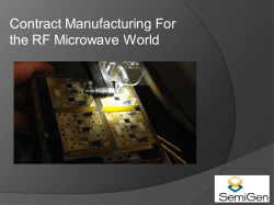 Contract Manufacturing For the RF Microwave World