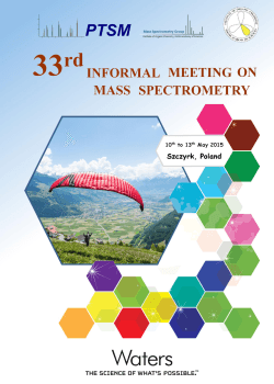 book of abstracts - 33rd Informal Meeting on Mass Spectrometry