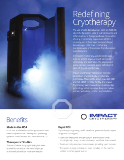 PDF - Impact Cryotherapy