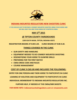 New Shooters Clinic Flyer - Indiana Mounted Regulators