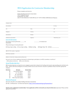IRCA Application for Contractor Membership