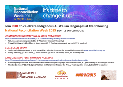 NRW events 2015 poster - Research Unit for Indigenous Language