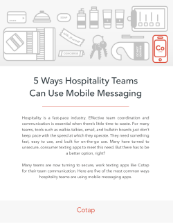 5 Ways Hospitality Teams Can Use Mobile Messaging