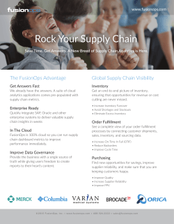 Rock Your Supply Chain