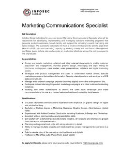 Marketing Communications Specialist
