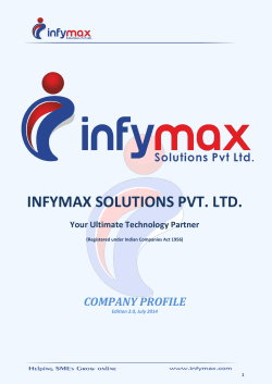 INFYMAX SOLUTIONS PVT. LTD. Your Ultimate Technology Partner